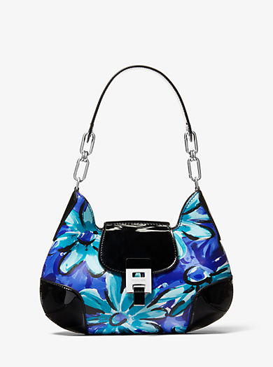 b43a2ac42d8d Bancroft Medium Daisy Calf Leather Shoulder Bag · michael kors .