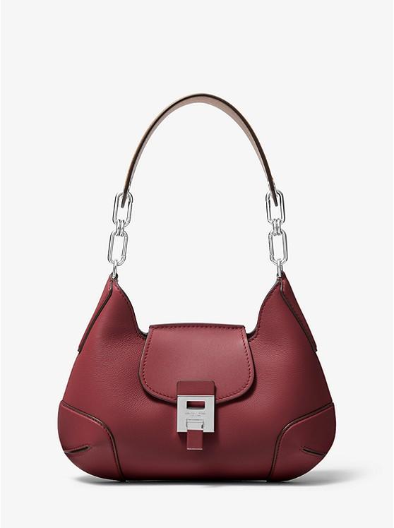 0699af6ea13358 Bancroft Medium Calf Leather Shoulder Bag   Michael Kors