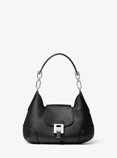 Bancroft Small Calf Leather Shoulder Bag Michael Kors