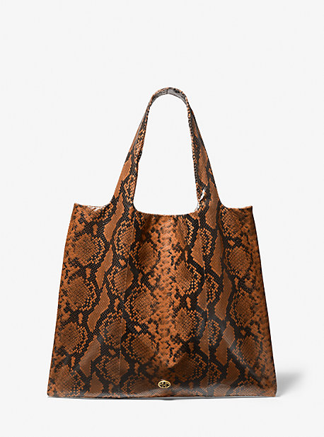 마이클 코어스 토트백 Michael Kors Monogramme Python Embossed Leather Tote Bag