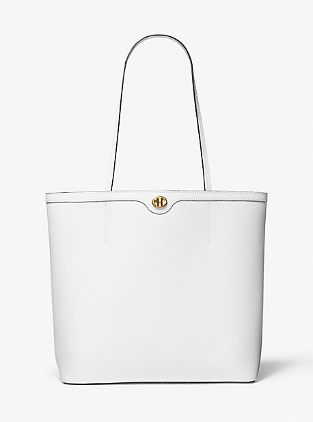 마이클 코어스 토트백 Michael Kors Monogramme Leather Tote Bag,OPTIC WHITE