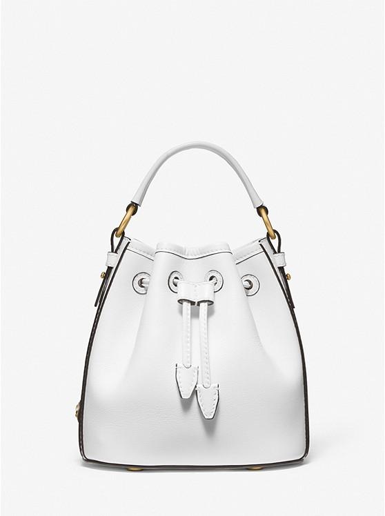 Monogramme Small Leather Bucket Bag | Michael Kors