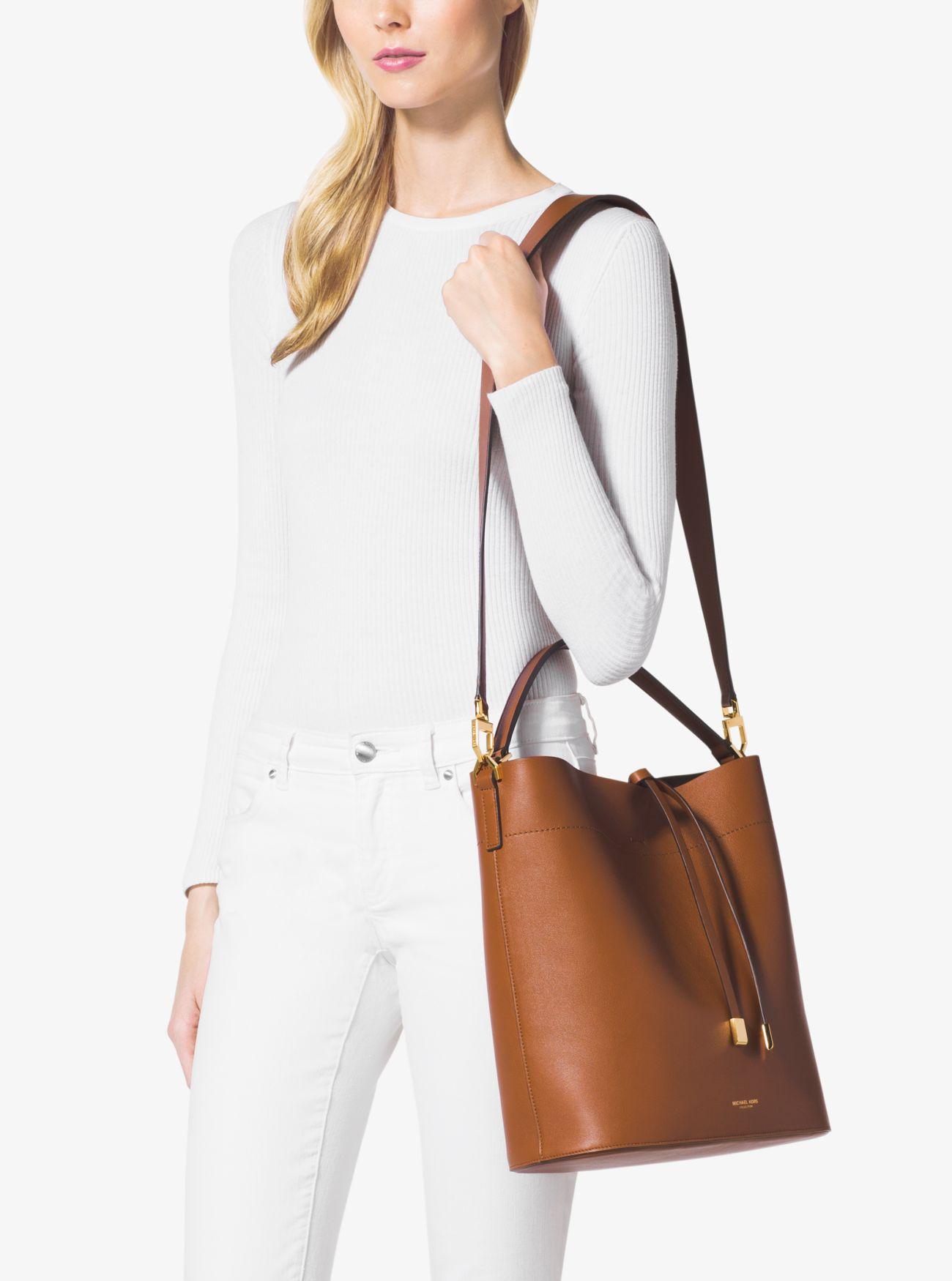 1651cdd00 ... Miranda Large Leather Shoulder Bag. Michael Kors Collection