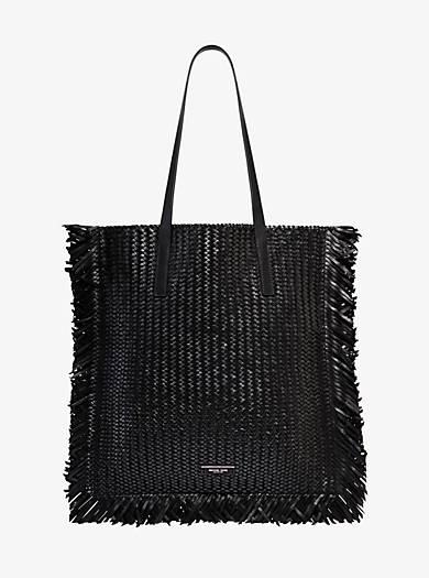 1ccc6420a617 Maldives Woven Leather Tote. michael kors collection · Maldives Woven  Leather Tote
