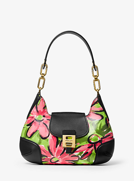 00be77d608a8 Bancroft Medium Daisy Calf Leather Shoulder Bag · michael kors ...