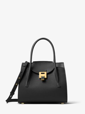 90bc51789f55 Bancroft Medium Pebbled Calf Leather Satchel. Find a Store. Sign Up for  updates from Michael Kors