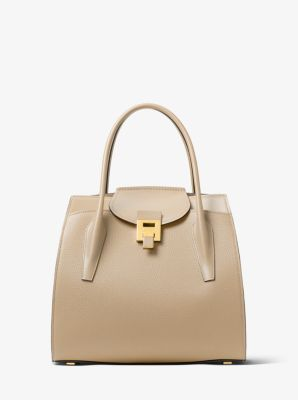 bdfcd1d3f25736 Bancroft Large Pebbled Calf Leather Satchel | Michael Kors