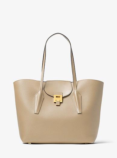 e13411a9a9fd Bancroft Pebbled Calf Leather Tote Bag | Michael Kors