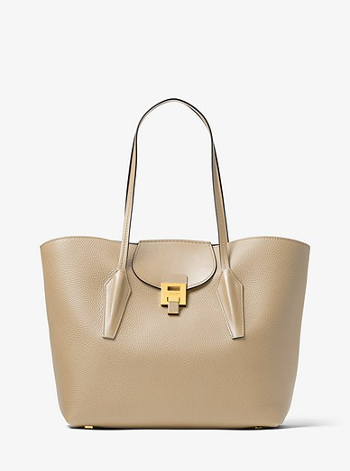 813e74e2bbdc Bancroft Pebbled Calf Leather Tote Bag | Michael Kors