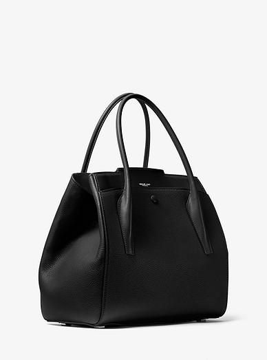 e98b2bce1269 Bancroft Large Pebbled Calf Leather Satchel | Michael Kors