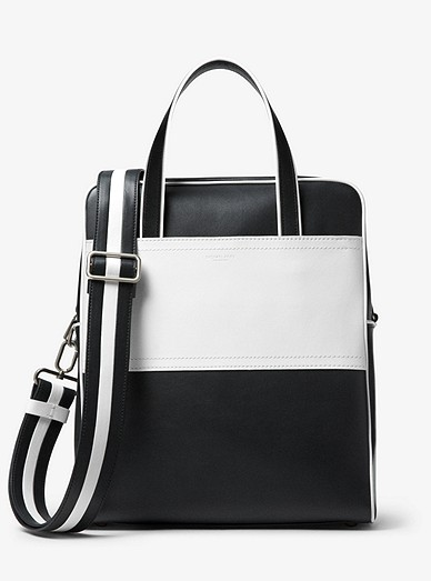 7d633b02f3adfa Nikki Striped Calf Leather Tote Bag | Michael Kors