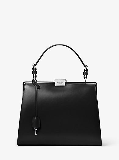 1dca8ae0b0730 Simone Calf Leather Top-Handle Bag. michael kors collection · Simone Calf  ...