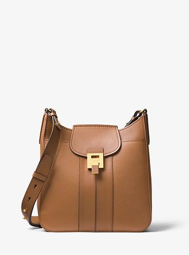 abf30f9b1c30 Bancroft Pebbled Calf Leather Messenger Bag | Michael Kors