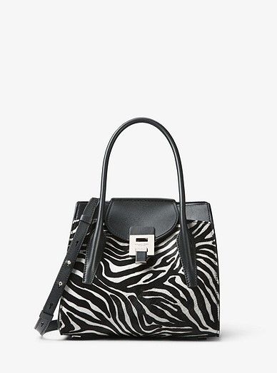 8a9a56020707fa Bancroft Medium Zebra Calf Hair Satchel | Michael Kors