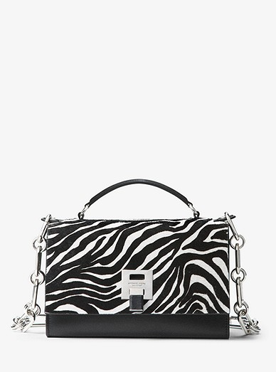 f39082786e3924 Bancroft Zebra Calf Hair Shoulder Bag | Michael Kors