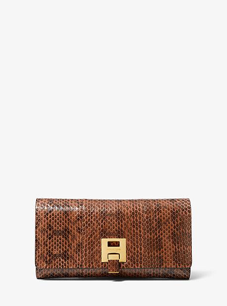 d9e1a478a97e Bancroft Snakeskin Continental Wallet · michael kors collection · Bancroft  Snakeskin Continental Wallet