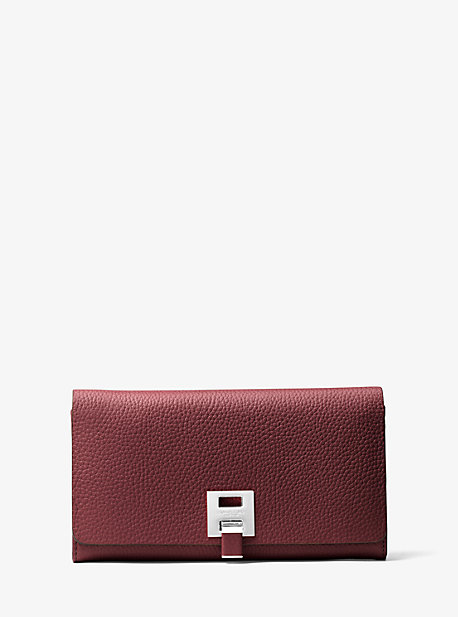 6f997401c4aa Bancroft Pebbled Calf Leather Continental Wallet | Michael Kors