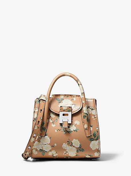 0d2f83606a750 Bancroft Mini Floral Calf Leather Satchel. michael kors collection ...