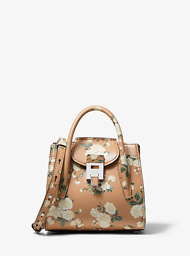 dc9eea32d Bolso satchel Bancroft mini de piel de becerro con estampado floral