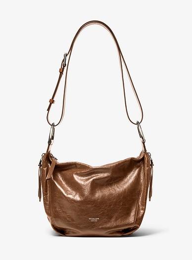 f7655f6d1f2d Chrissie Crinkled Calf Leather Hobo Bag | Michael Kors