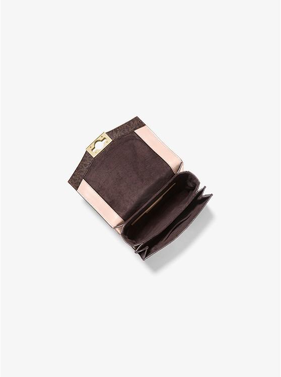 Hendrix Extra-Small Logo Convertible Crossbody Bag BRN/SFTPINK