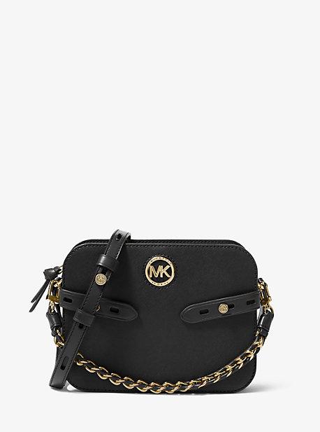 마이클 마이클 코어스 Michael Michael Kors Carmen Large Saffiano Leather Crossbody Bag,BLACK