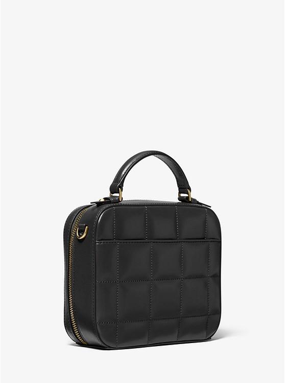 Jet Set Medium Quilted Leather Crossbody Bag BLACK