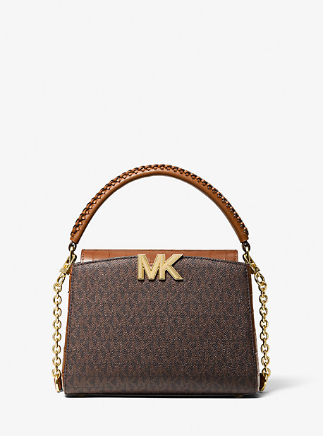 21FW 마이클 마이클 코어스 칼리백 스몰, 로고 (김세정 착용) Michael Michael Kors Karlie Small Logo Crossbody Bag,CHESTNUT