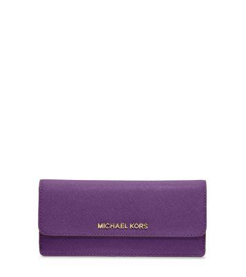48914773b9ba63 Travel Slim Saffiano Leather Wallet | Michael Kors