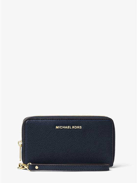 4e3c909804c5 Large Leather Smartphone Wristlet | Michael Kors