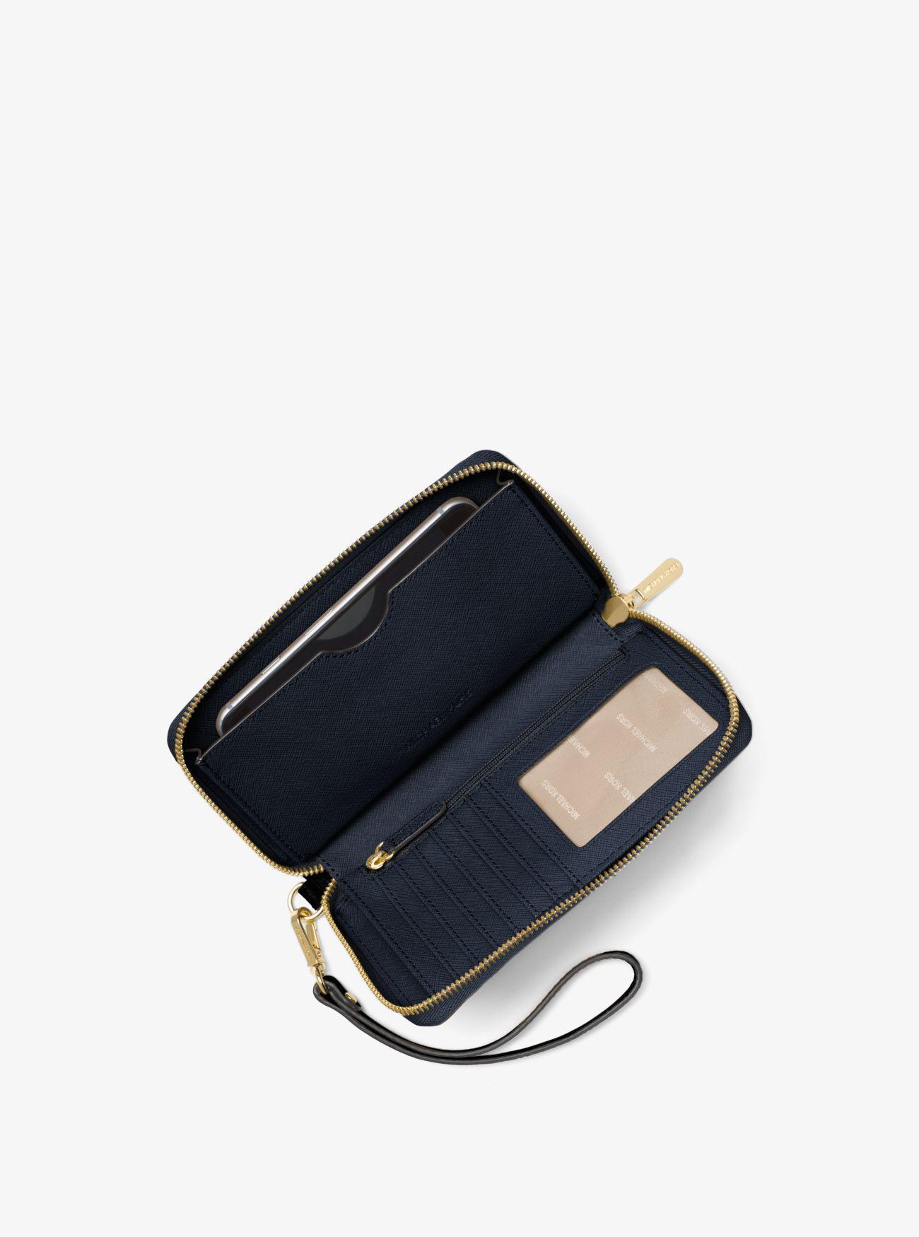 b8888645af6a Large Leather Smartphone Wristlet Large Leather Smartphone Wristlet Large  Leather Smartphone Wristlet. MICHAEL Michael Kors