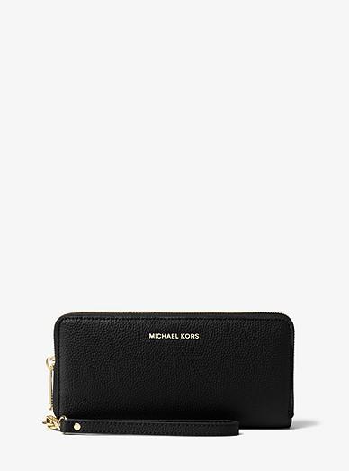 024131d1f206bd Leather Continental Wristlet | Michael Kors