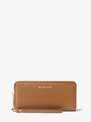 e8e540f8b3b7 Leather Continental Wristlet
