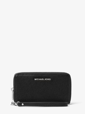 Large Leather Smartphone Wristlet by Michael Kors