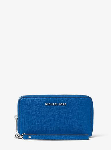 3759c6f59cac Large Leather Smartphone Wristlet | Michael Kors