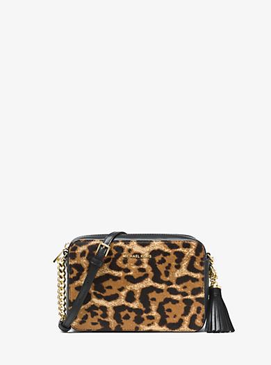 44ca01e5b4db Ginny Leopard Calf Hair Crossbody · michael michael kors ...