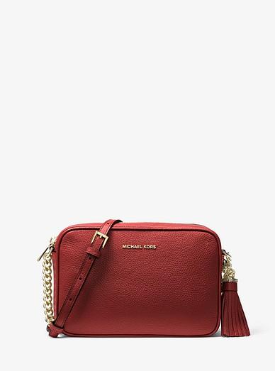 Ginny Leather Crossbody Bag Michael Kors
