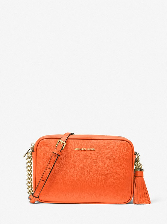 Ginny Leather Crossbody Bag CLEMENTINE