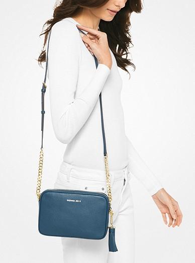 9f20df4d7f71 Ginny Leather Crossbody Bag   Michael Kors