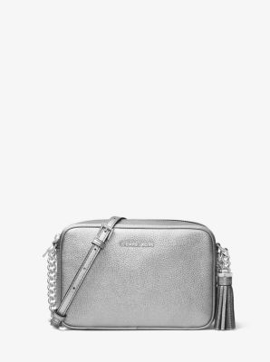 Ginny Metallic Leather Crossbody by Michael Kors