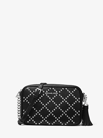 9c69a5e29b68 Ginny Grommeted Leather Crossbody · michael michael kors · Ginny Grommeted  Leather Crossbody