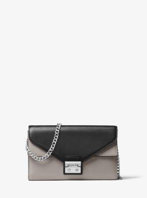 373b1f6cbdaa Sloan Color-Block Leather Chain Wallet