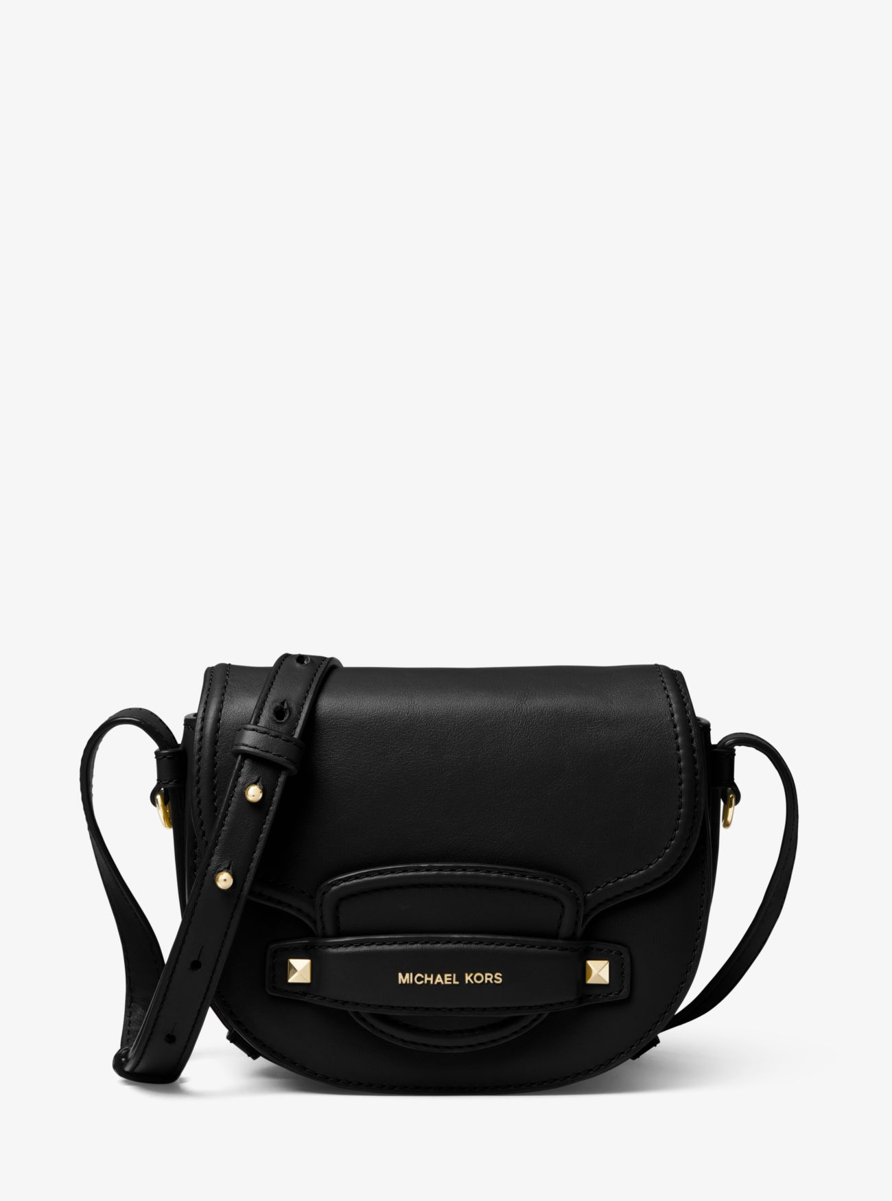 ca97a8e9e82 Cary Small Leather Saddle Bag   Michael Kors