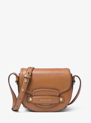 f1a3bf2b8 Cary Small Leather Saddle Bag | Michael Kors