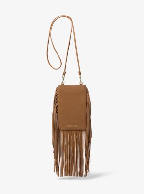 a647147566df Cary Fringed Suede Smartphone Crossbody Bag | Michael Kors