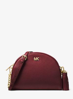 4f3df2ab3ff6 Ginny Pebbled Leather Half-Moon Crossbody Bag