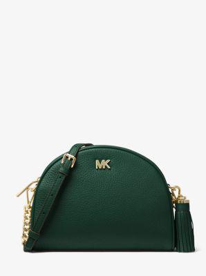 399bb0ec7bc2 Ginny Pebbled Leather Half-Moon Crossbody Bag   Michael Kors