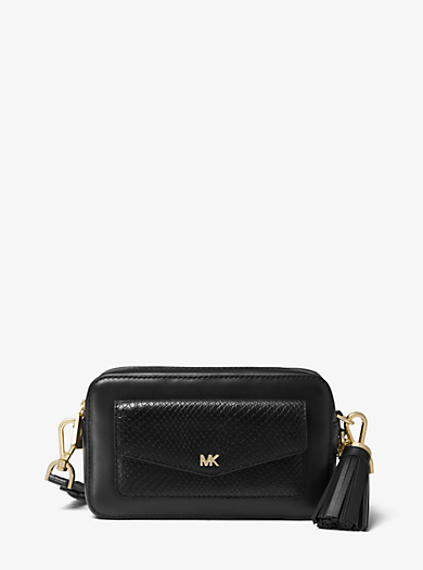 f122626feeb880 promo code for small snake embossed leather camera bag. quickview. michael  michael kors 30c81