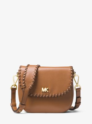 f39dadc409ec Whipstitched Leather Saddle Bag | Michael Kors