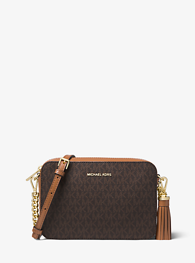 Ginny Medium Logo Crossbody Michael Kors